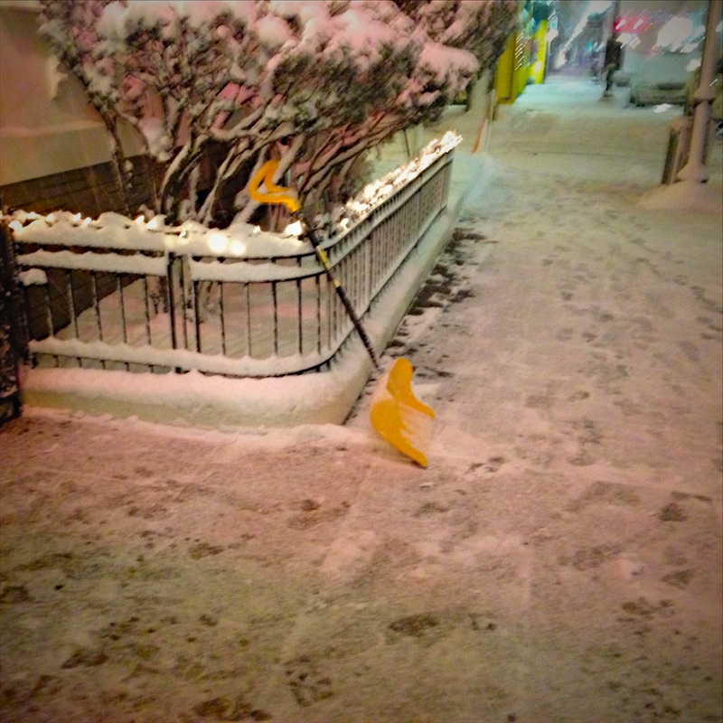 Shoveling at Old Canteen