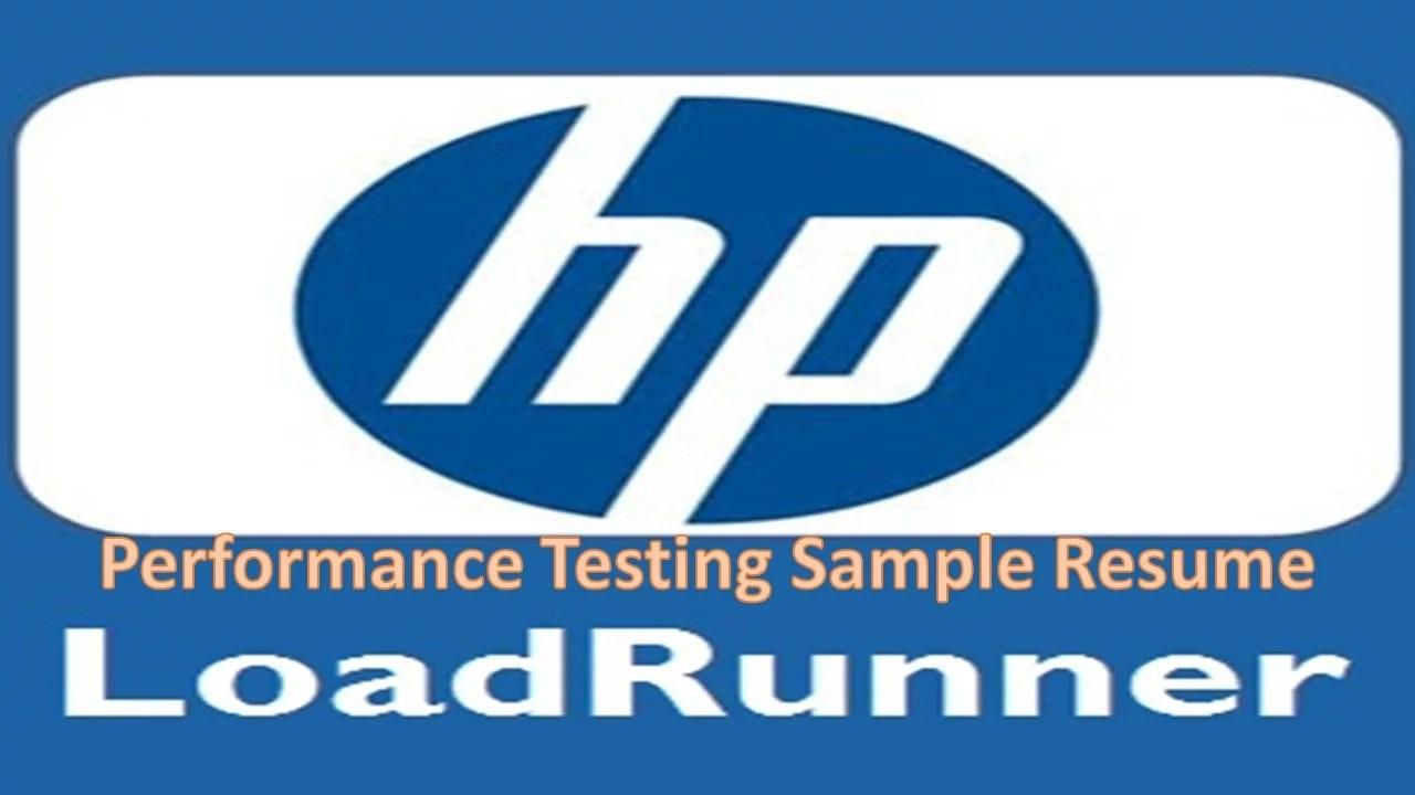 LoadRunner Resume - Software Testing