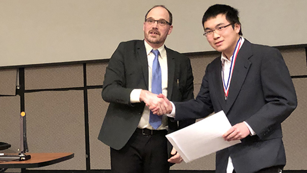 Second Place Intel Finalist Nathan Wang Shaker HS
