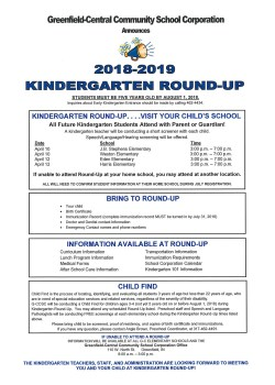 Kindergarten Round Up Flier