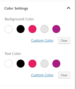 Theme specific color palette.