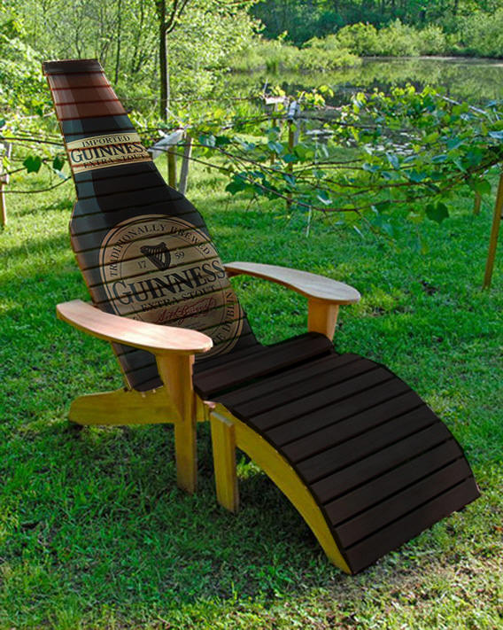 plans for adirondack chair plywood lounge and ottoman beer bottle woodworking