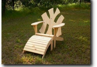 Adirondack Chair And Footrest Plans Woodworking Projects