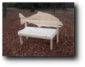 Salmon  Fish Bench Woodworking Plans