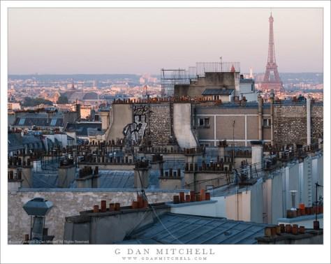 g dan mitchell photograph dawn paris rooftops france. Black Bedroom Furniture Sets. Home Design Ideas