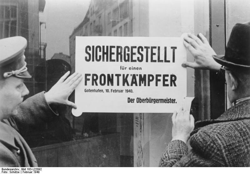 Obwieszczenie niemieckiego nadburmistrza Gdyni