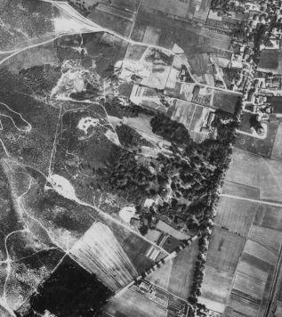 zdjęcie lotnicze Stawowia w 1928