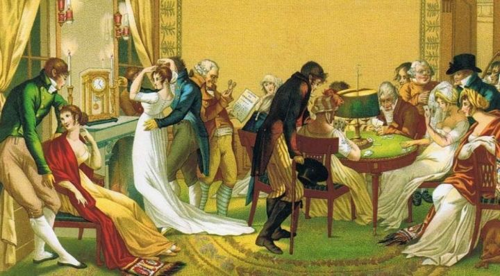 scena salonowa wg Bosio, za P. Lacroix, Francja 1798-1813