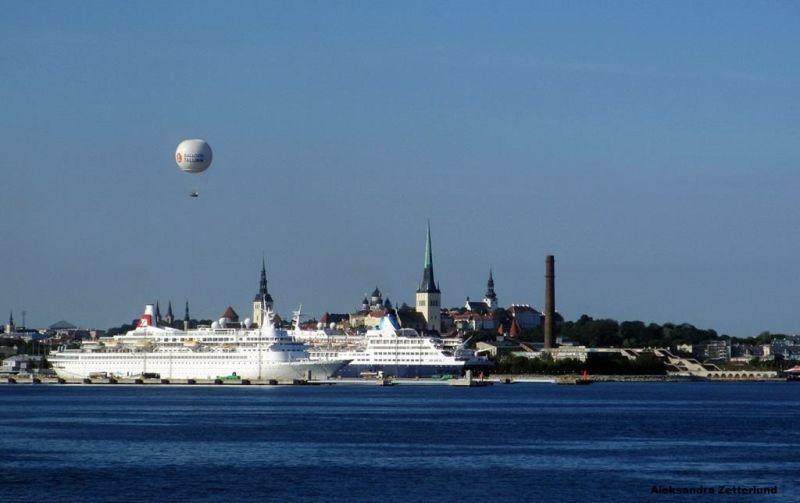 Tallinn widziany z portu