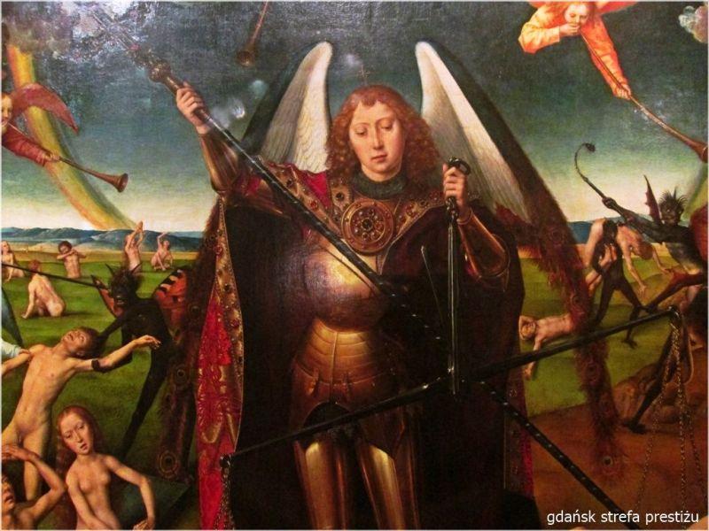 Ludzie wychodzą z grobów, a Archanioł Michał ma pawie oka na skrzydłach.