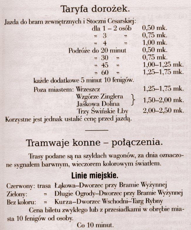 Cennik z roku 1894, ze zbiorów Rolanda Józefowicza.