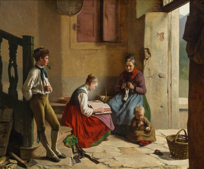 Häusliche Szene, 1868