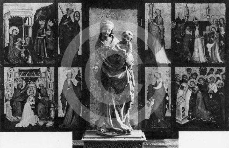 ołtarz z kaplicy świętych Kosmy i Damiana