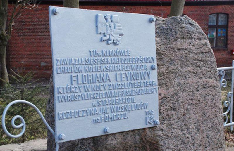Tablica pamiątkowa w Klonówce, autor zdjęcia nieznany