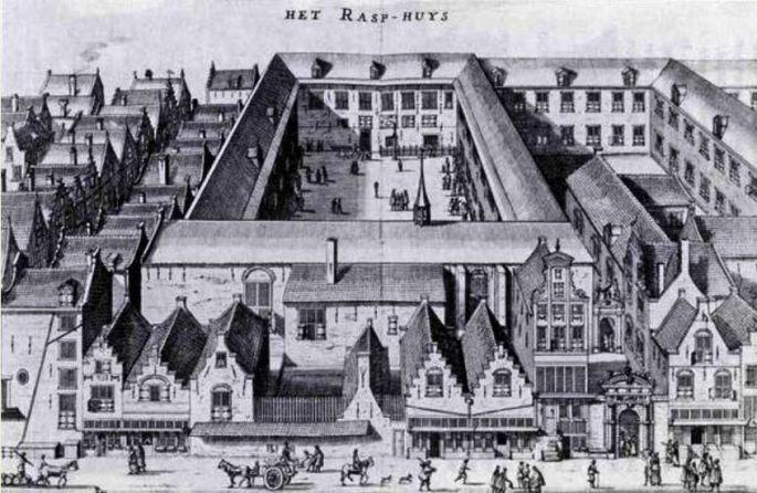Rasphuys - męski Dom Poprawy w Amsterdamie (von Zessen, 1664)