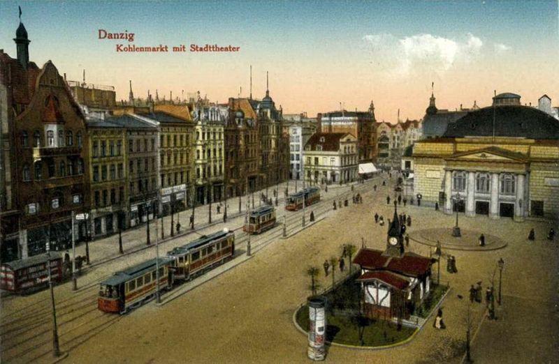 Targ Węglowy w 1910 r.