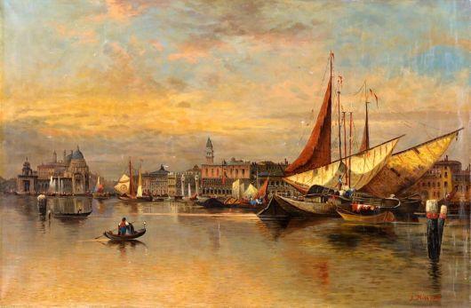 Widok na Wenecję - Karl Kaufmann