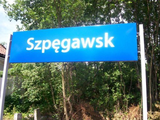 Stacja kolejowa w Szpegawsku, z archiwum autorki