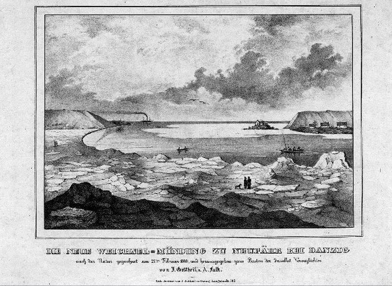 Przełom Wisły z 21.02.1840 r. BG PAN