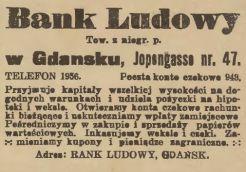 ogłoszenie z Gazety Gdańskiej