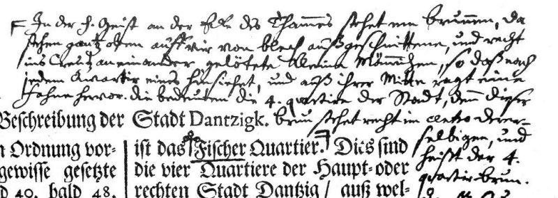 Notatka na marginesie kroniki R. Curickego dotycząca Studni Czterech Kwartałów. Repr. A.Masłowski na podst. wyd. z 1979 r.)