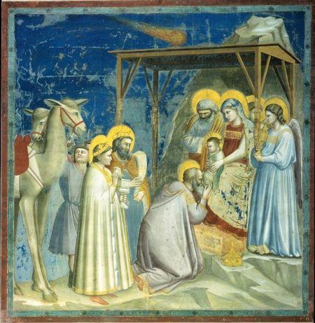 """Słynny obraz Giotto di Bondone """"Pokłon Trzech Króli"""""""