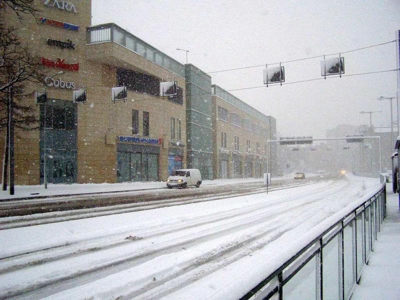 zima po gdańsku, fot. Andrzej Otrębski, CC BY-SA