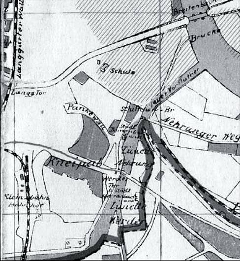 Fragment planu z 1914 r