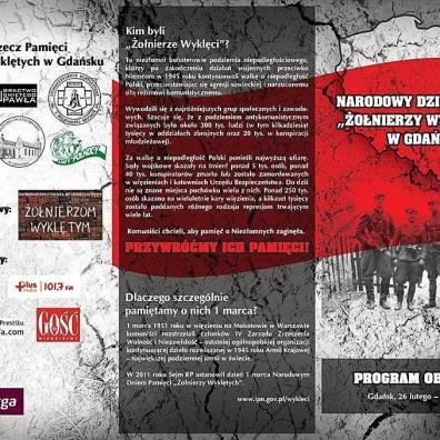 Obchody Narodowego Dnia Pamięci Żołnierzy Wyklętych – program