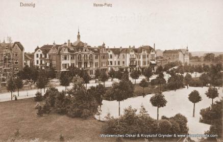 W środkowej części zdjęcia Sanatorium Hansa