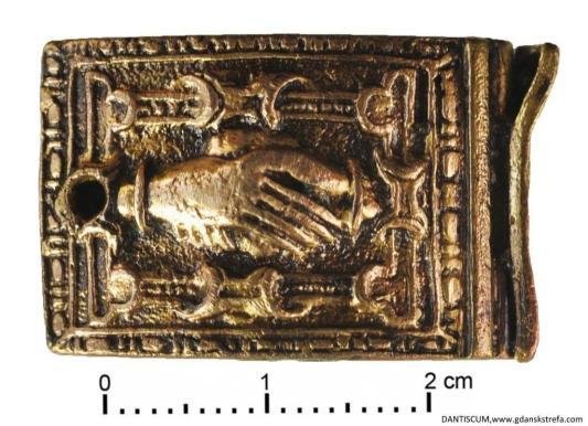 Okucie końca pasa, XV-XVI w.
