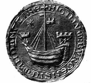 pieczęć z kogą, uważana za pierwszy herb Gdańska