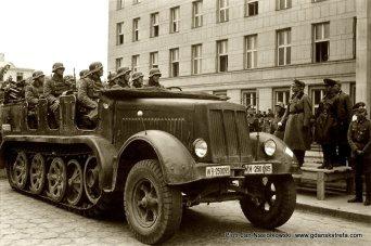 Odbiór wspólnej defilady oddziałów Wehrmachtu i Armii Czerwonej