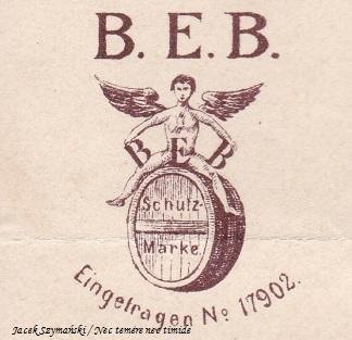 """""""Aniołek"""" symbol Browaru, Brauerei Englisch Brunnen, ze zbiorów autora."""