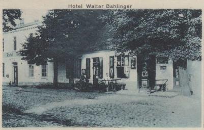 Tak wyglądał owy niewielki hotel Waltera Bahlingera w Sobowidzu (dzisiaj ul. T. Kościuszki 68), gminie Trąbki Wielkie.