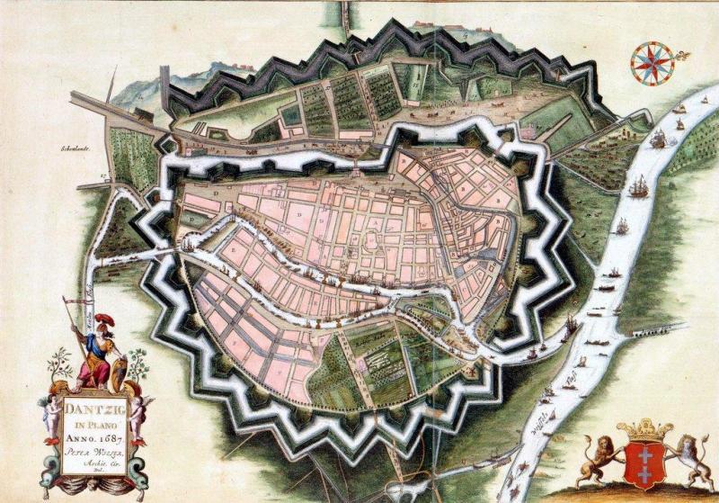 Plan Gdańska z 1687 roku