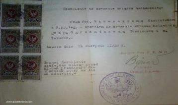 zezwolenie na ślub z 1923 r.