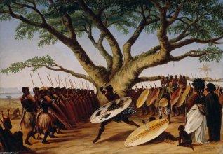 Taniec wojenny Zulusów