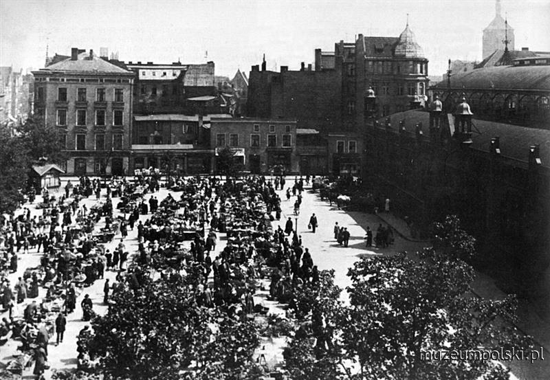 Targ na Placu Dominikańskim (Dominikanerplatz). .(Ok. 1905). www.muzeumpolski.pl