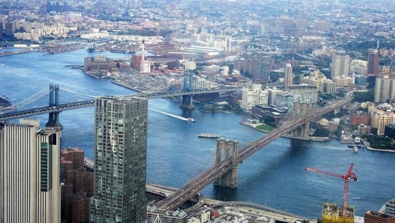 Manhattan Bridge i Brooklyn Bridge
