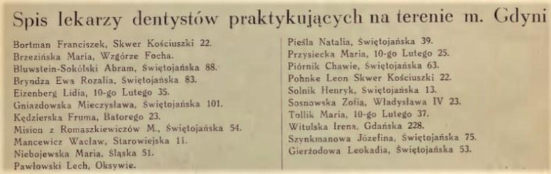 dentystka Świętojańska 53