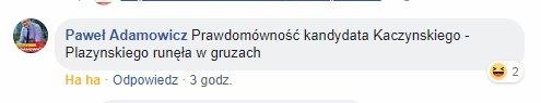 Przed ogłoszeniem postanowienia Paweł Adamowicz zaczął ferować wyroki komentarzem na FB.