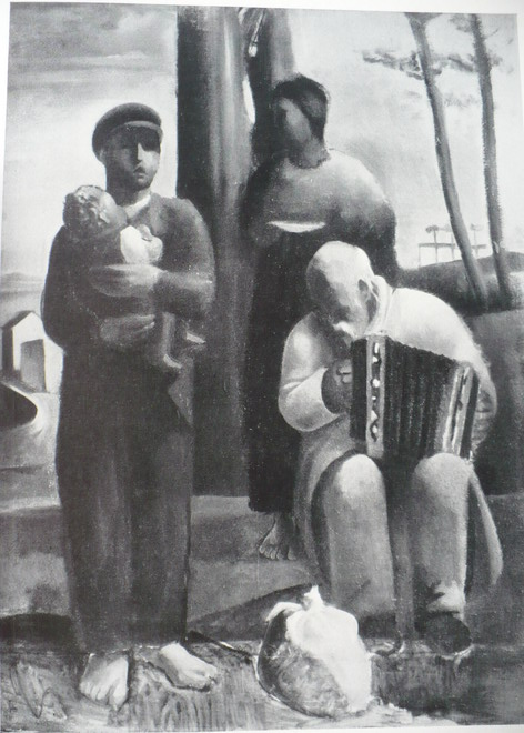 "Bruno Paetsch, Muzykanci, zdjęcie pochodzi z książki ""Kunstschaffen im Deutschen Danzig""- 1939 Danzig"
