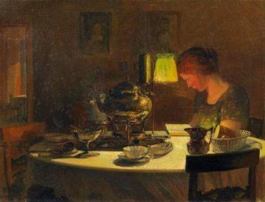 Reinhold Bahl - Kobieta przy stole