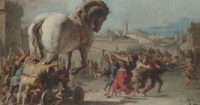 Giovanni Domenico Tiepolo - Koń trojański (Wikimedia Commons)