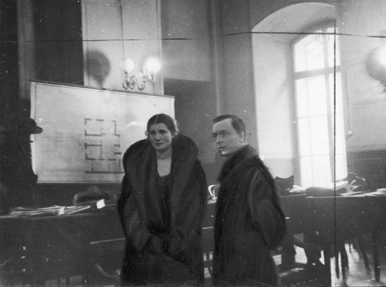 Rita w towarzystwie adwokata Mieczysława Ettingera.