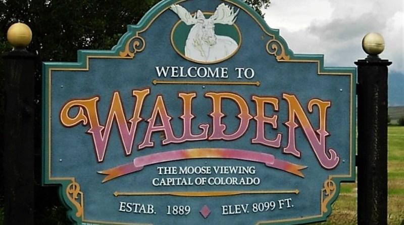 Tablica witająca przyjezdnych w Walden, Kolorado