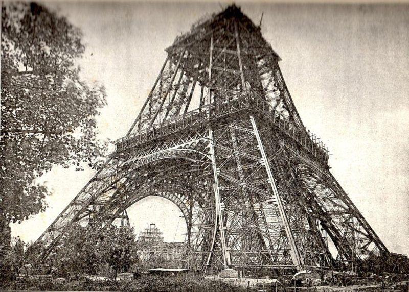 Wieża w budowie 1888 rok