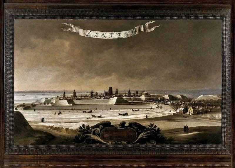 Zimowa panorama Gdańska, A. Stech, Gdańsk 1678 r. Wł. Prywatna, fot. E. Grela