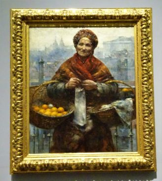 Żydówka z pomarańczami, zdjęcie oryginału